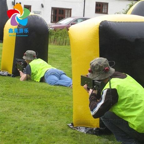 户外运动娱乐 充气射击掩体障碍趣味场地真人竞技充气CS模拟射击