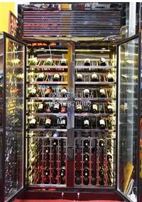 不锈钢红酒展示架定制厂家