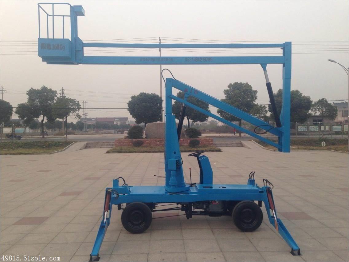 现货供应曲臂式升降机移动高空升降平台电动液压曲臂式升降平台车图片
