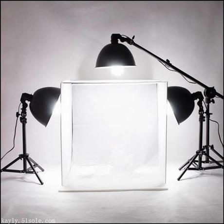 一件代发经典爆款60cm摄影方棚+广口灯具3灯+广口灯顶架摄影器材