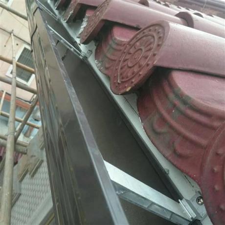 彩鋼瓦屋檐接水槽別墅天溝雨水槽排水系統