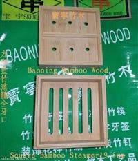 酒店专用方形重竹竹蒸笼19.5cm