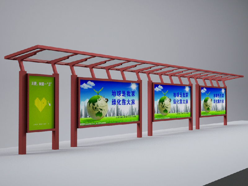 青岛广告灯箱指路牌候车亭宣传栏垃圾箱厂家