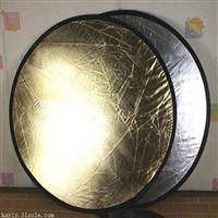 便攜攝影補光輔助器材110cm大型二合一金銀雙麵反光板拍照道具
