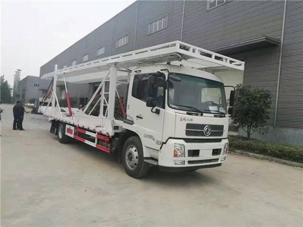 D9东风多利卡一拖四轿运车报价,道路救援清障车拖车