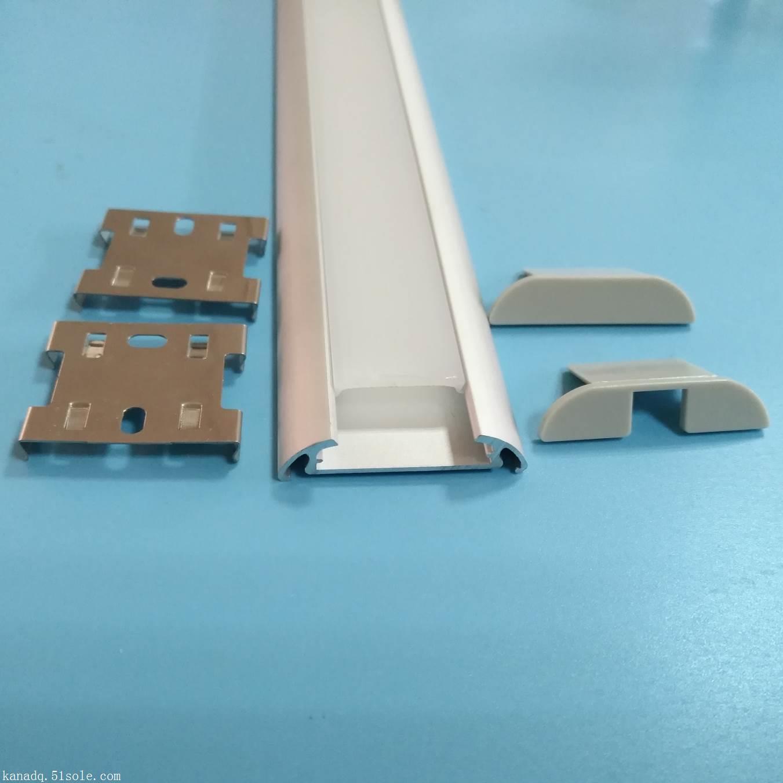 批发室内外灯条铝型材.LED暗槽灯铝槽外壳.线条灯铝槽套件