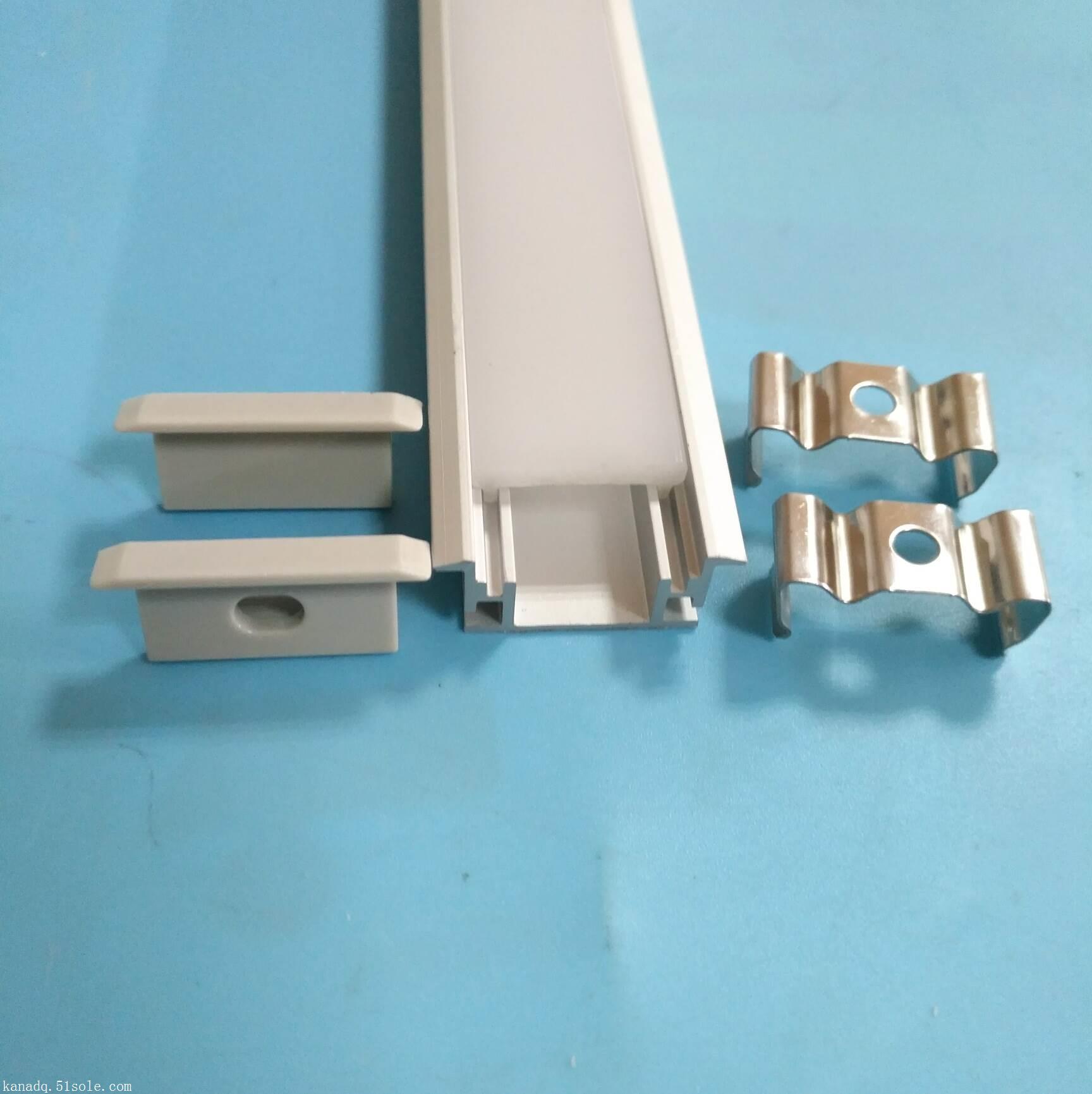 LED地板灯铝槽套件.橱柜灯铝槽.线条灯铝型材等各种铝槽批发