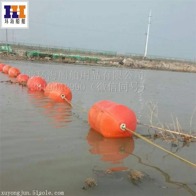连云港水面拦污网 直径50公分挂网拦污浮筒