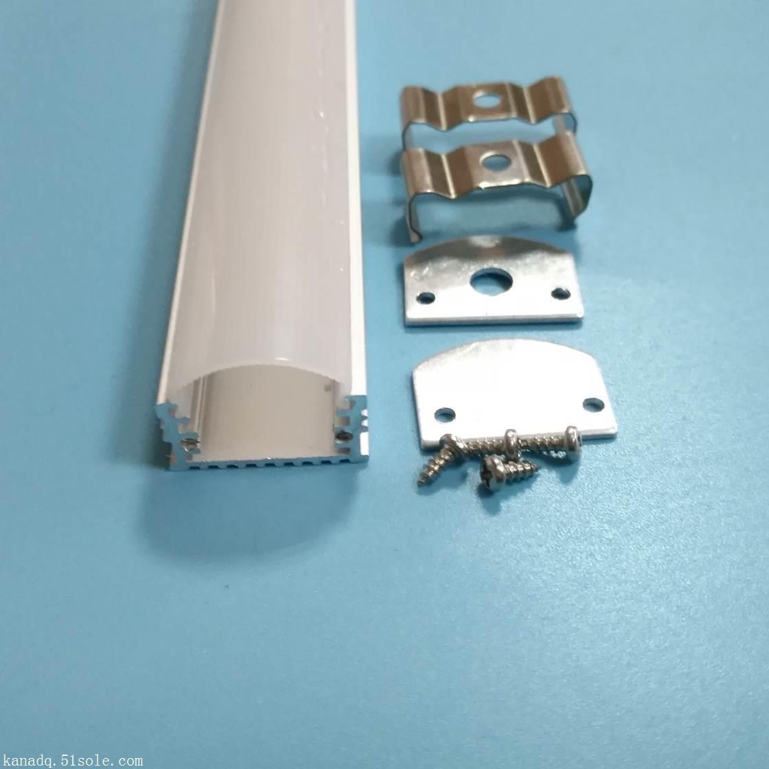 佛山杰鼎JD-83 U形硬灯条铝槽.线条灯铝槽套件.带PC罩铝槽配件