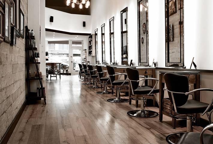 郑州理发店装修设计公司效果图,河南美发店设计整体空间布局