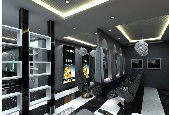 郑州美发店装修设计要有品味,河南美发店装修设计公司
