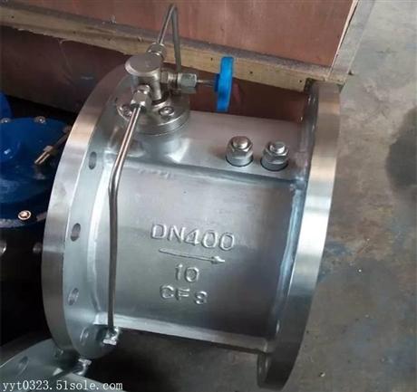 HH49H-16P不锈钢微阻缓闭止回阀 水利控制阀 上海惠夏阀门 沪工