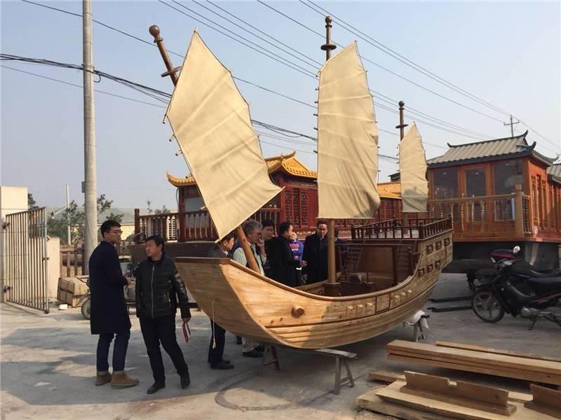 手工定制郑和宝船海盗木船仿古装饰船