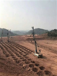 河南新乡市年产12000吨大米建设项目强夯机租赁施工