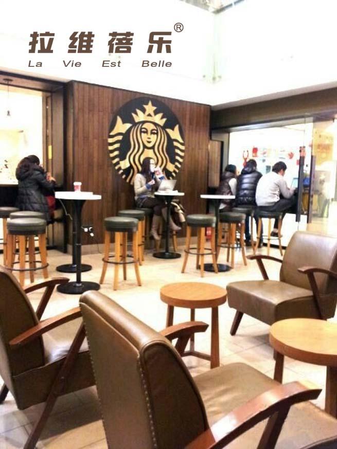 西安轻食餐厅实木沙发,卡座沙发定做定制