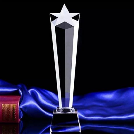 西安水晶奖杯图片 价格