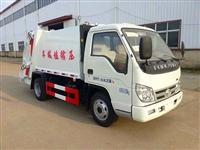 3吨蓝牌压缩式垃圾车多少钱福田3吨压缩垃圾车价格介绍