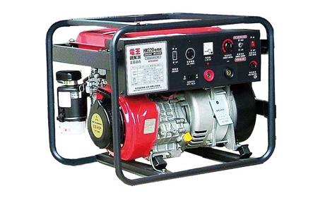 电王HW220汽油单缸管道焊接专用发电电焊一体机工厂直销