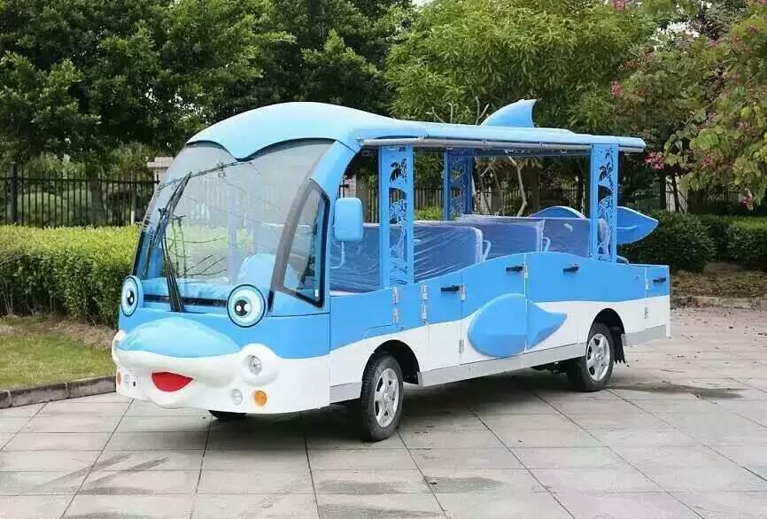 十四座海豚电动观光车