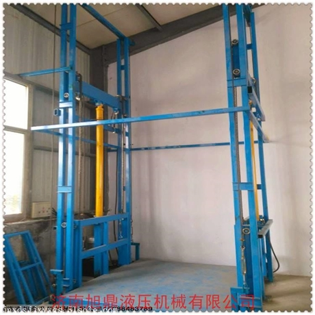 定制固定导轨式升降机 车间液压货梯 厂房电动升降平台 2吨货梯