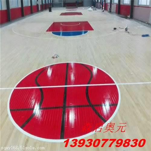 室内篮球木地板厂家施工