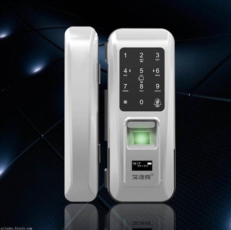 玻璃门密码指纹锁-艾洛克玻璃门密码指纹锁品牌厂家