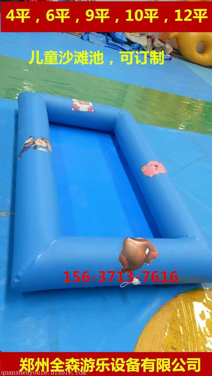 室外儿童充气沙池海洋球池组合玩具/充气游泳池厂家直销