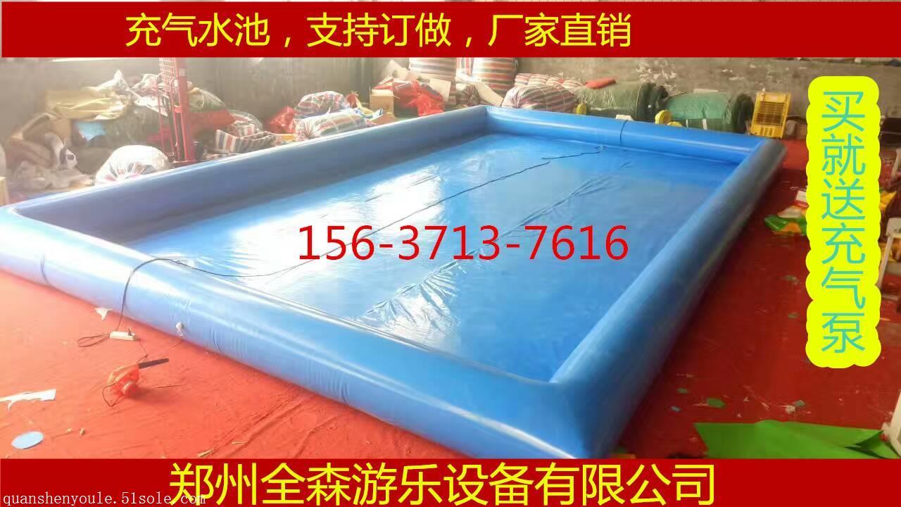 厂家直销大型充气水池/移动充气游泳池/儿童手摇船水池价格