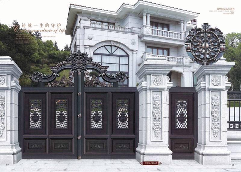 厂家直销铝艺豪华别墅庭院大门/花园小区欧式防盗铝门