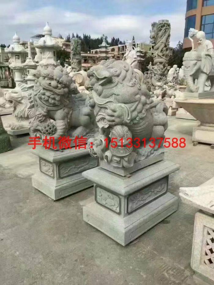 石材雕塑厂家 招财石狮子雕塑