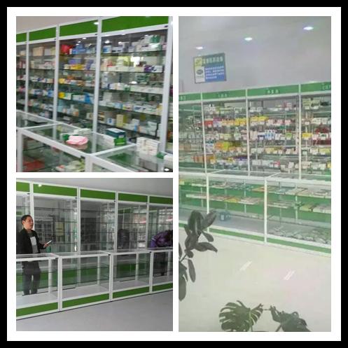 南宁玻璃柜精品柜食品柜药品柜钛合金展柜工厂定制直销