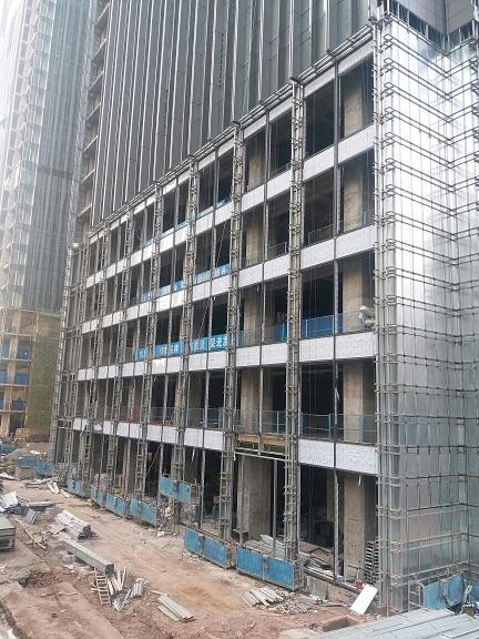 重庆外墙玻璃幕墙型材安装|铝合金型材格栅