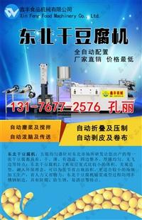 通化自動大型干豆腐機 多功能干豆機的視頻 技術好學嗎