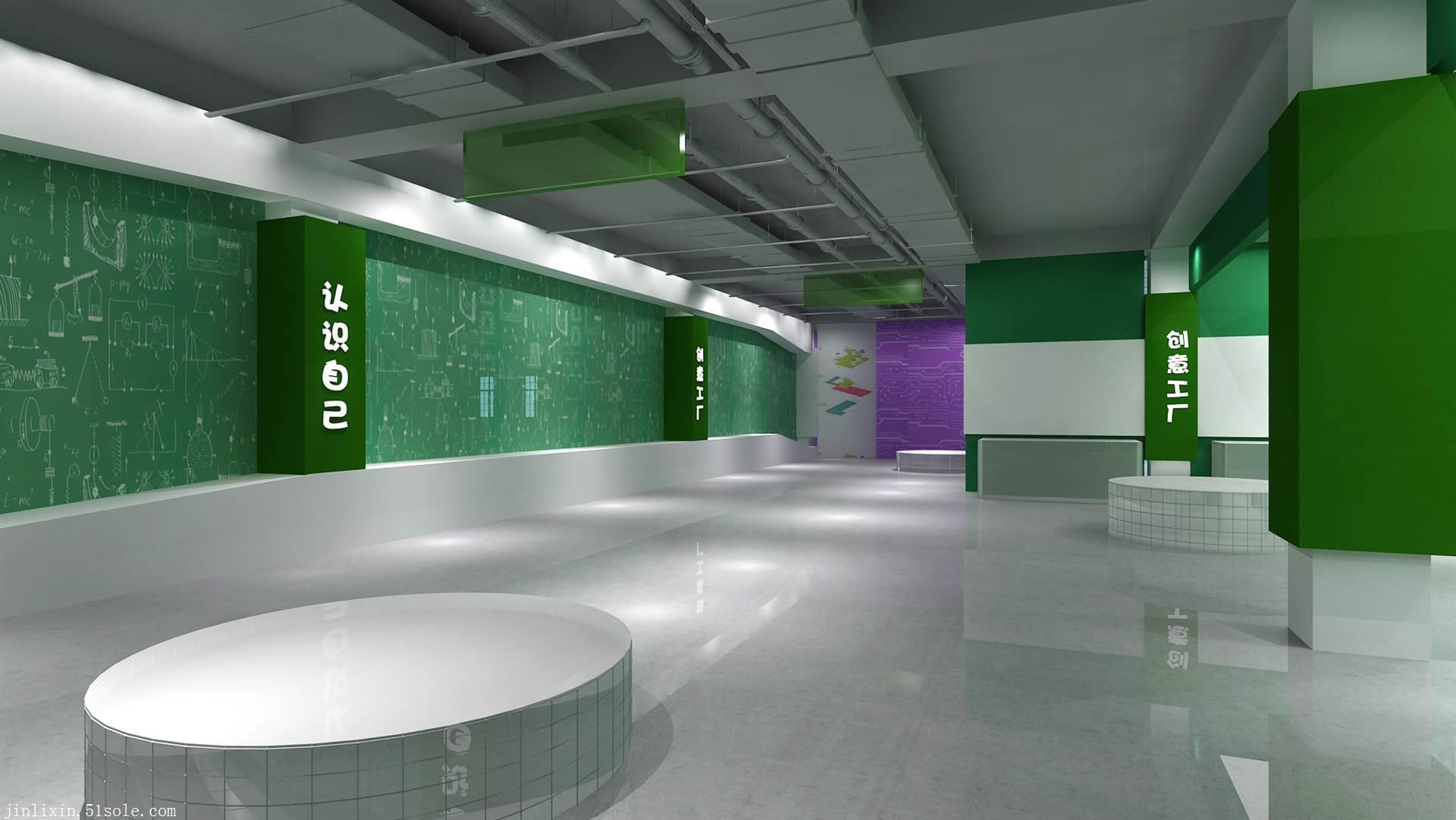 泰州展厅装修 学校文化长廊设计