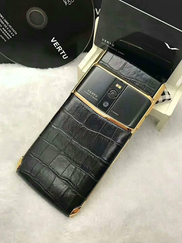 首款 5.5寸威图vertu手机 8G/64G 真蛇皮 蓝宝石原装屏 拾音手机