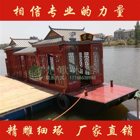 山东聊城8米画舫船 餐饮船价格实惠