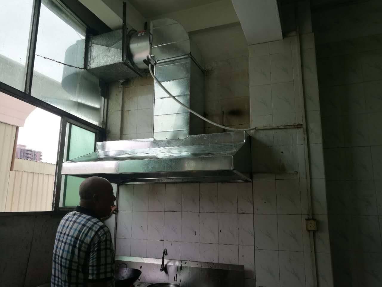 光明厨房油烟管道通风工程