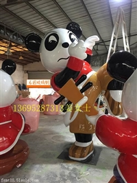 廣東熊貓雕塑 廣東玻璃鋼雕塑價格 廣東熊貓雕塑廠家