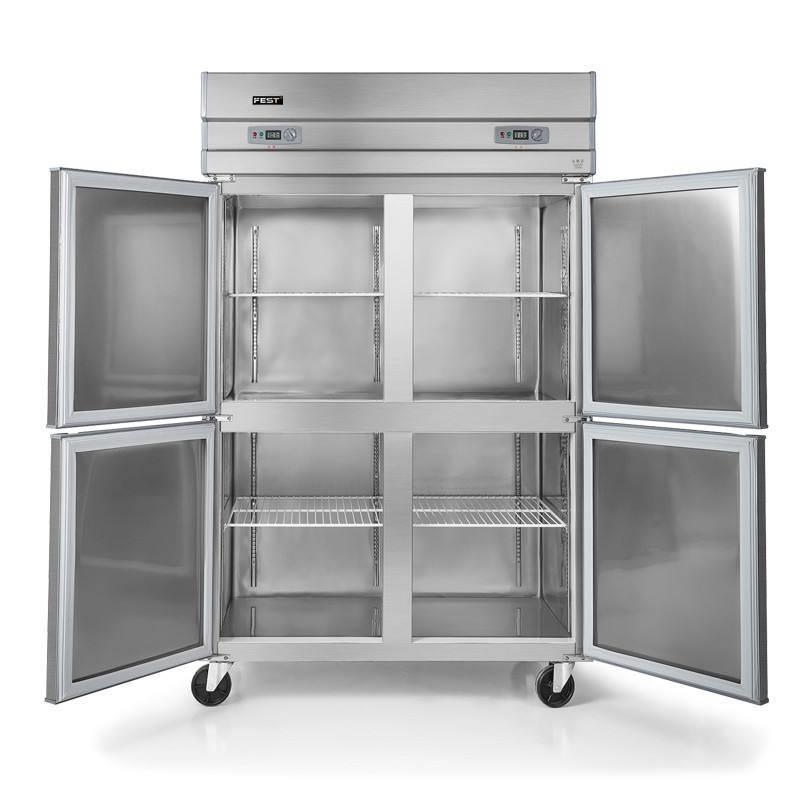 咸宁爱雪商用冷柜厂家直销  厨房冰箱按结构及门体一般分为台式,两门图片