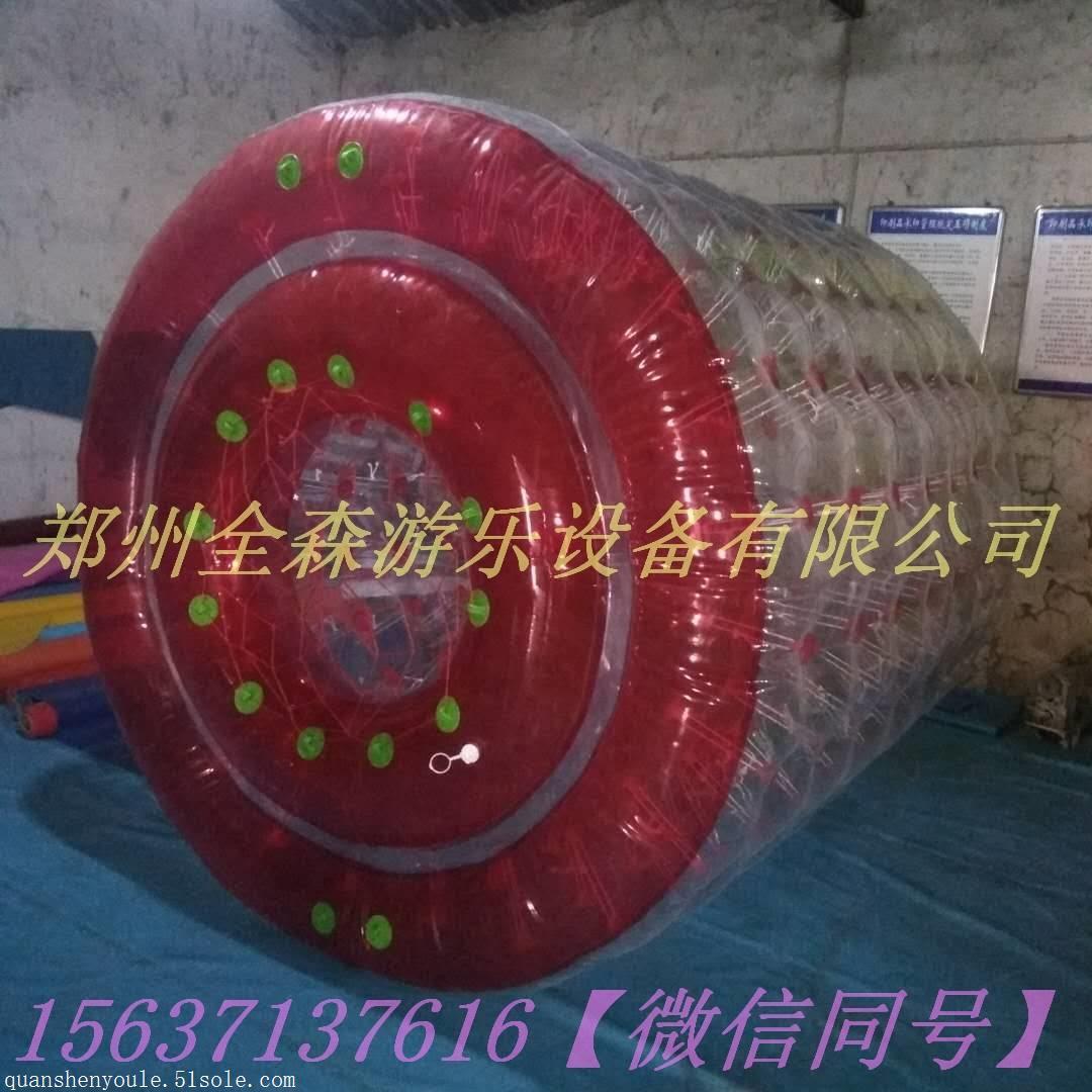 大型移动水上乐园漂浮物/儿童水上彩色滚筒球/水上步行球定制
