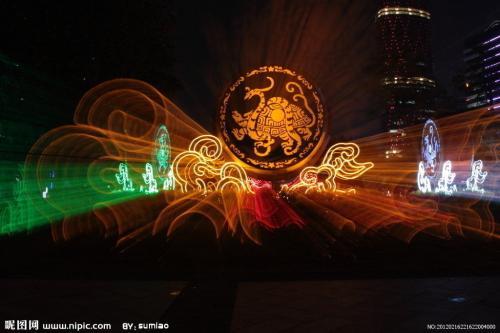 灯光节出租厂家灯光秀活动策划设计图片
