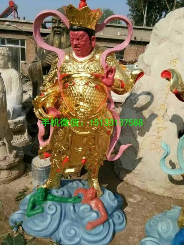 玻璃钢雕塑厂家 四大天王佛像 玻璃钢佛像定制 四大天王佛像厂家
