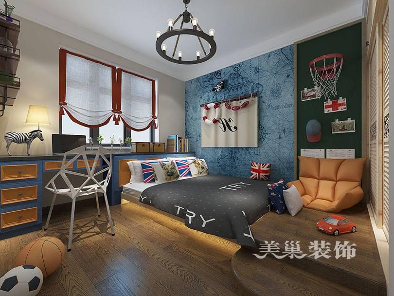 美巢装饰-宝翔嘉苑120平三室两厅装修效果图-儿童房没买床哦