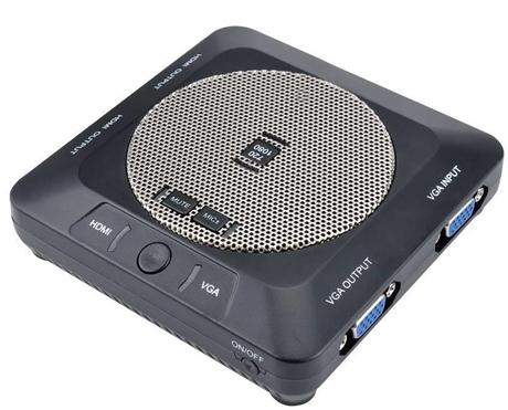 派尼珂 VGA/HDMI高清便携式会议教学录像机(盒)