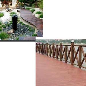 供兰州防腐木栏杆和甘肃木头栈道供应商