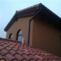 重庆彩色古铜色檐沟檐槽排水系统