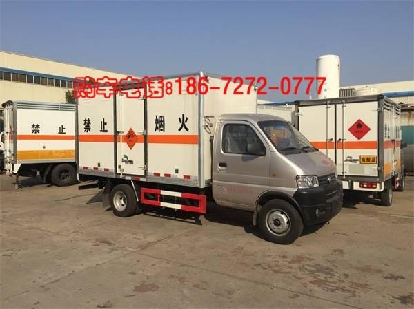 东风俊风3.3米1.2吨小型易燃液体厢式运输车