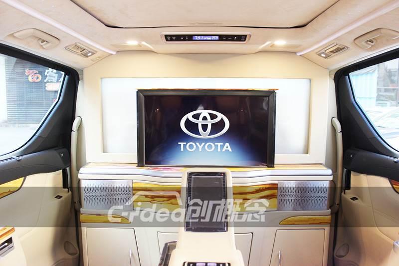 惠州丰田埃尔法改装房车内饰,配置升降卫星电视