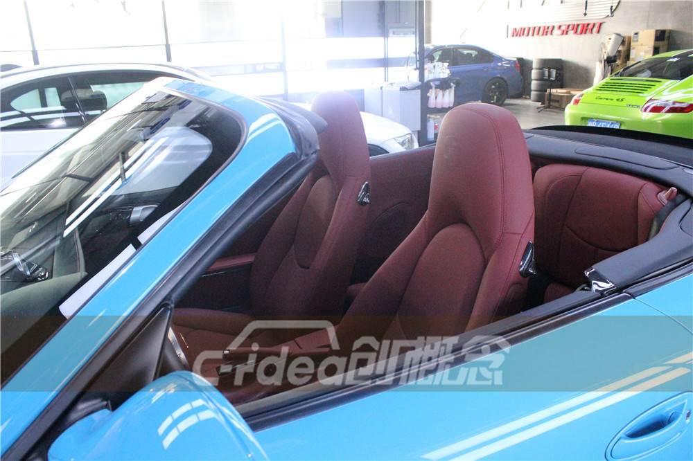 深圳保时捷911老款改装新款,车内改装真皮座椅
