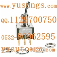 上海现货NKK开关M-2022P4六脚钮子开关接线图